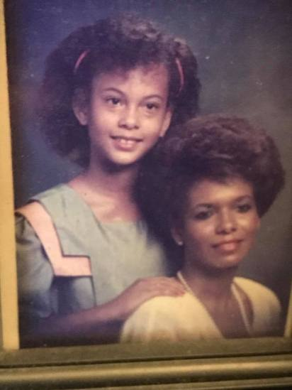me and mom 1985