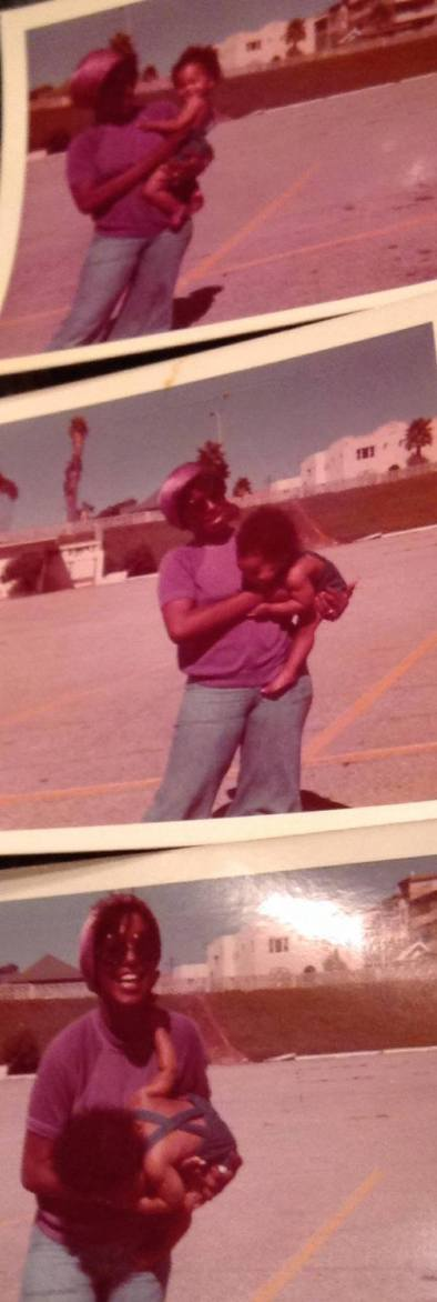 mommy and me at Santa Monica Beach 1976